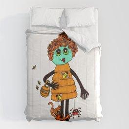 Beehive with Cat Comforters