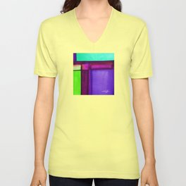 Color Block 4 by Kathy Morton Stanion Unisex V-Neck
