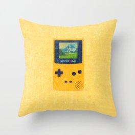 Game Boy Color-Zelda Throw Pillow