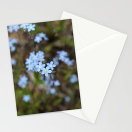 3 Forget-Me-Nots in the Center Stationery Cards