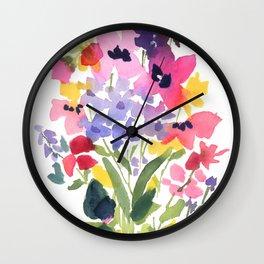 Petite Wildflowers Wall Clock