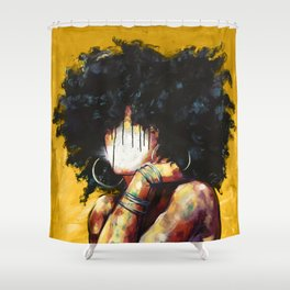Naturally II GOLD Shower Curtain