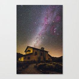 Milky Way at Ermita de las Nieves (Tenerife) Canvas Print