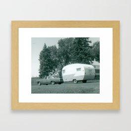 Vintage Shasta Trailer Framed Art Print