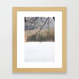 Frozen Lake Framed Art Print