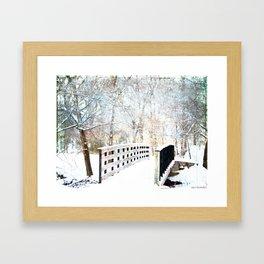 Snowy Winter Trail Framed Art Print