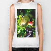 pomegranate Biker Tanks featuring pomegranate by  Agostino Lo Coco