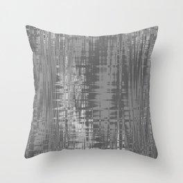 Grey Wavelengths Throw Pillow