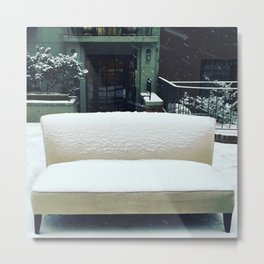 The Cool Couch on the Upper West Side Metal Print