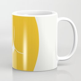 Yellow in nude Coffee Mug