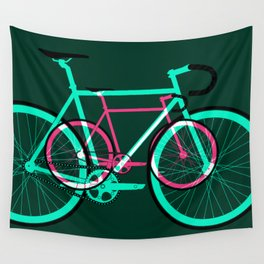 Fixed Gear Road Bikes – Green and Pink Wall Tapestry
