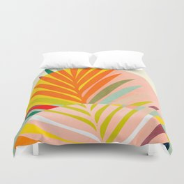 minimal leave tropical spring Duvet Cover
