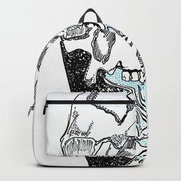heart skull Backpack