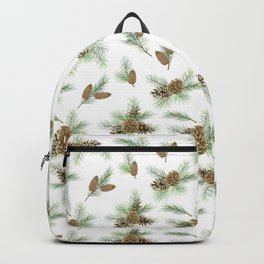 pine branches and cones pattern Backpack