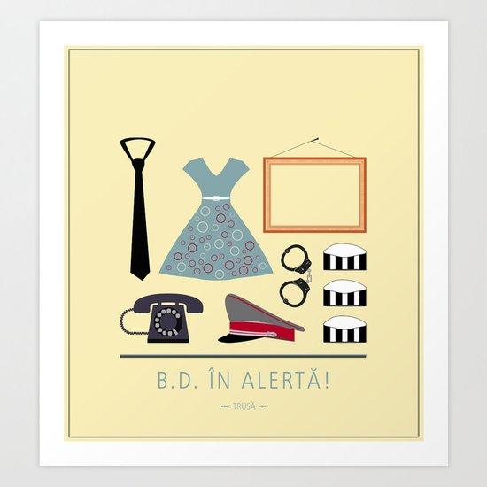 """ROMANIAN MOVIE """"B.D. IN ALERTA!"""" Art Print"""