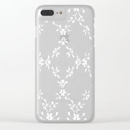 Simple white lace Clear iPhone Case