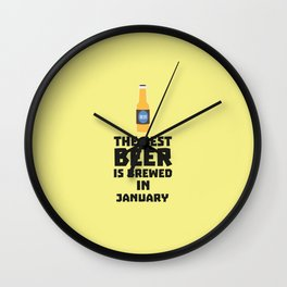 Best Beer is brewed in May T-Shirt for all Ages Wall Clock
