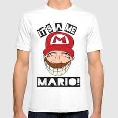Psycho Mario Mens Fitted Tee MEDIUM White