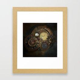 Steampunk Clocks Framed Art Print