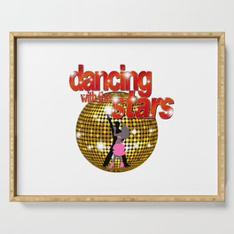 Dancing with the Stars Disco ball Dancers silhouette 2 Serving Tray