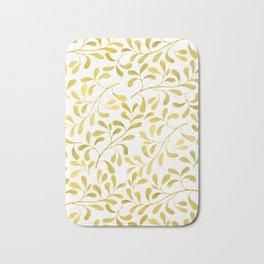 Golden Leaves Bath Mat