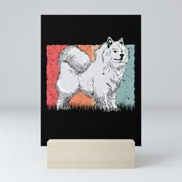 Samoyed Vintage Sled Dog Mini Art Print