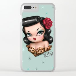 Rockabilly Baby Doll Clear iPhone Case