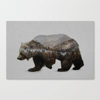 background Canvas Prints featuring The Kodiak Brown Bear by Davies Babies