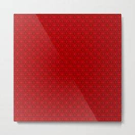 Fabulous kaleidoscope pattern in red Metal Print