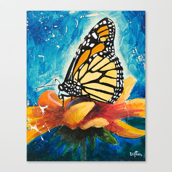 Butterfly - Discreet clarity - by LiliFlore Canvas Print