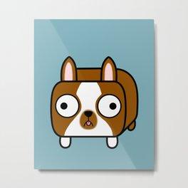 Boston Terrier Loaf - Red Brown Boston Dog Metal Print