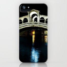 Rialto Bridge, Grand Canal, Venice, Italy Landscape by Jeanpaul Ferro iPhone Case