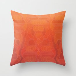 Round and About Coral Throw Pillow