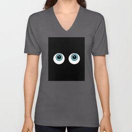 Funny And Glowing Dark Eyes Unisex V-Neck