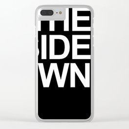 the up side down Clear iPhone Case
