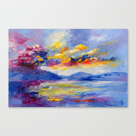 Bright cloud Canvas Print