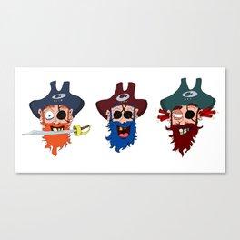 Three wise pirates Canvas Print