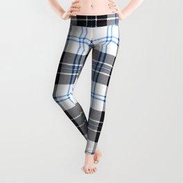 Rustic Plaid Pattern: Dark Blue Leggings