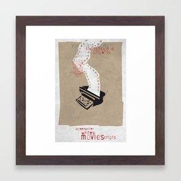 Screenwriter Framed Art Print