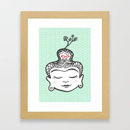 Buddha infinity Framed Art Print