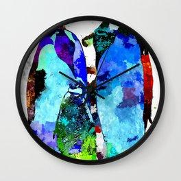 Penguin Family Grunge Wall Clock