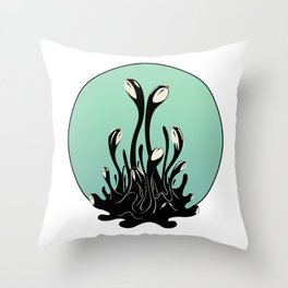Cymatic Birds Throw Pillow