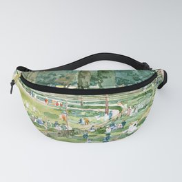 The Race Track - Hippodrom - Piazza Siena, Jardines Borghese, Roma by Maurice Prendergast Fanny Pack