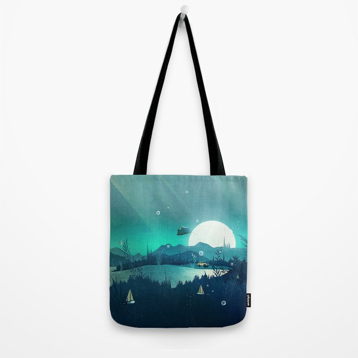 Beneath Barafundle Tote Bag