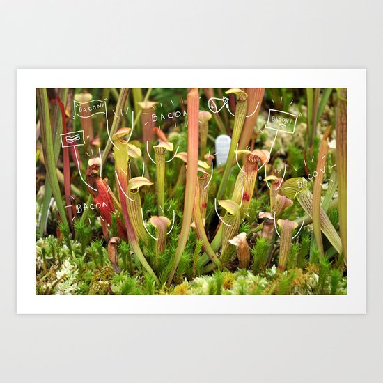 Killer plants Art Print