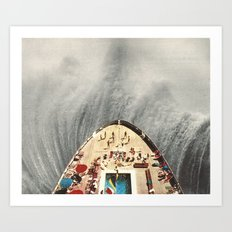 a great big wave (to wash it all away) - collab with sammy slabbinck Art Print