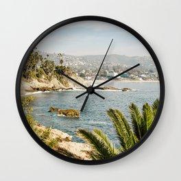 Laguna Beach Print  Wall Clock
