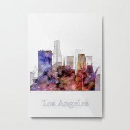 Los Angels cityscape art - California Metal Print