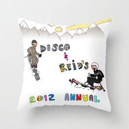 Disco & Reid's 2012 Annual CO ski adventure Throw Pillow