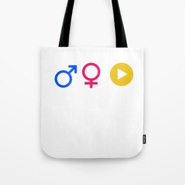 Man Woman Binge Watcher Gender Equality LGBT Equality Gay Lesbian Bisexual Transgender Feminism Gift Tote Bag